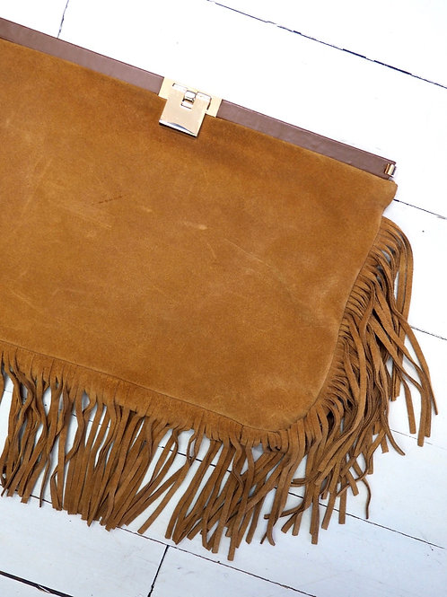 MUSETTE Fringe Leather Envelope Bag