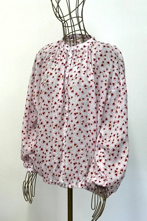 H&M x Anna Glover Floral Buttoned Top