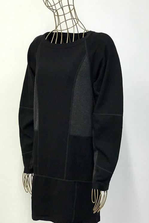 NUBU Contrast Sweater Dress