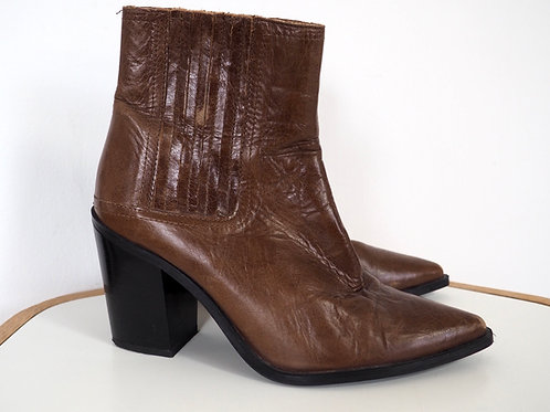 ZARA Brown Leather Ankleboots