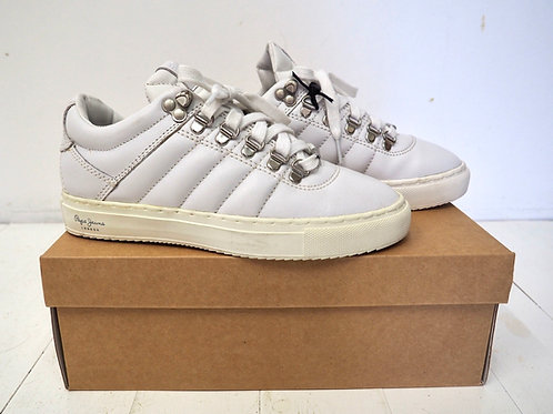 PEPE JEANS Off white Leather Sneakers