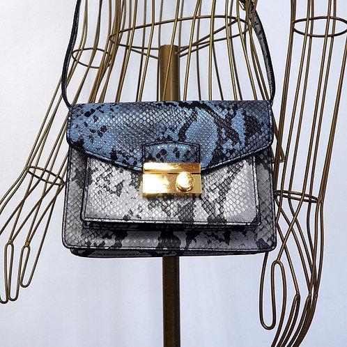 MANGO Snakeskin Print Bag