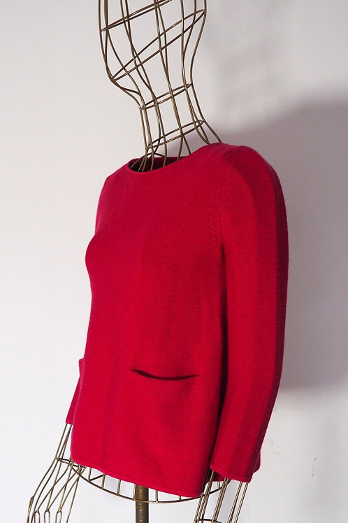 COS Pink Knit Sweater with Pockets