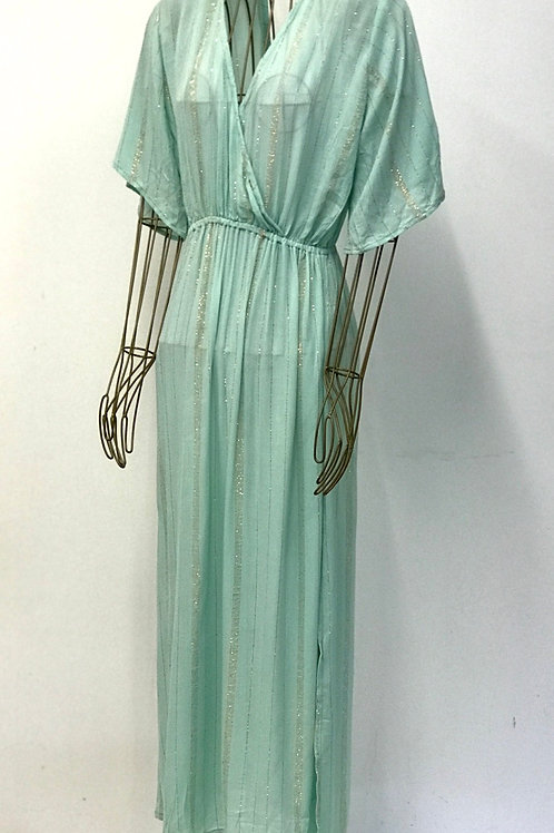 KAMALA KAFTAN Golden Striped Dress