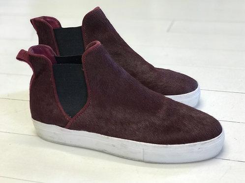 Zara Bordeaux Horsefur Sneakers