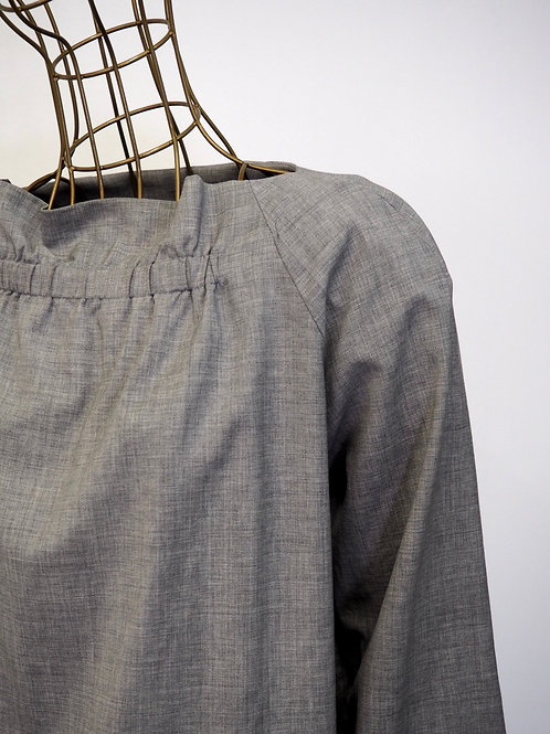 COS Grey Wool Blouse