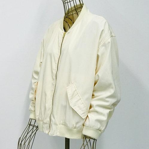 Monki Off White Bomber Jacket