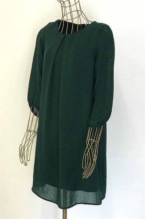 H&M Dark Green Flowy Dress
