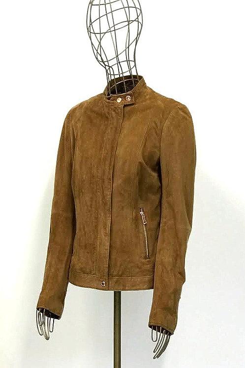 GAS Caramel Suede Leather Jacket
