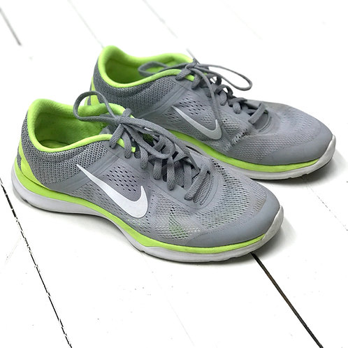 Nike Grey Sneakers with Neon