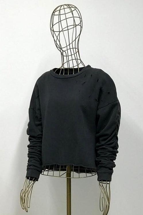 Zara Grey Sweatshirt with Holes
