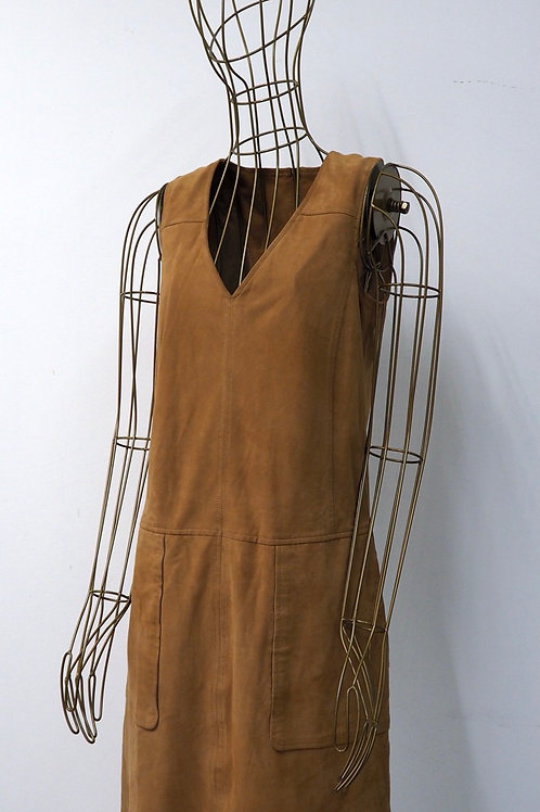 WAREHOUSE Suede Leather Dress