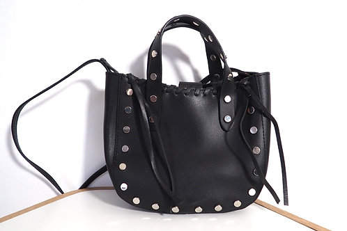 ZARA Studded Leather Crossbody Bag