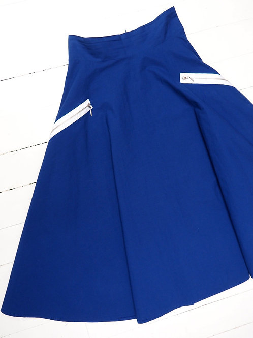 RESERVED Cotton Skirt with Zip
