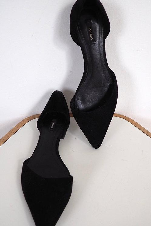 MANGO Black Flats