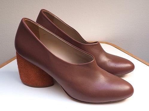 COS Brown Block Heels