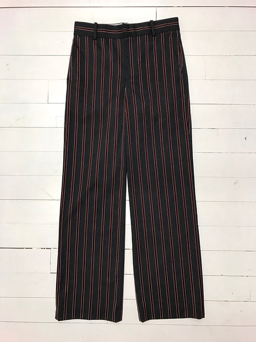 Zara Burgundy Striped Pants
