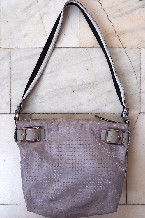 DKNY Silver Monogram Bag
