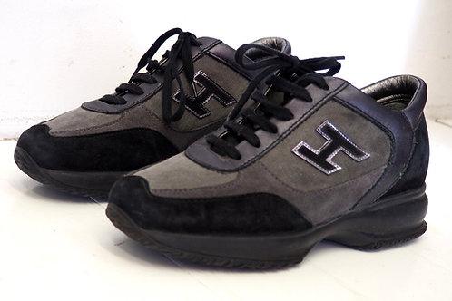 HOGAN Grey/Black Sneakers