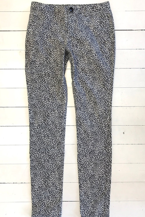 Zara Leopard Printed Skinny Jeans