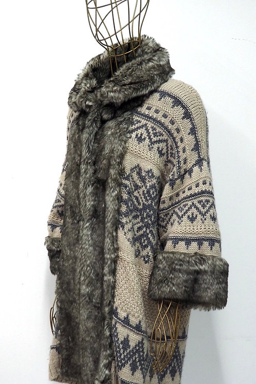 ZARA Norvegian Pattern Cardigan