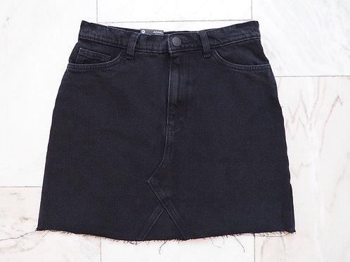 MONKI Black Denim Miniskirt