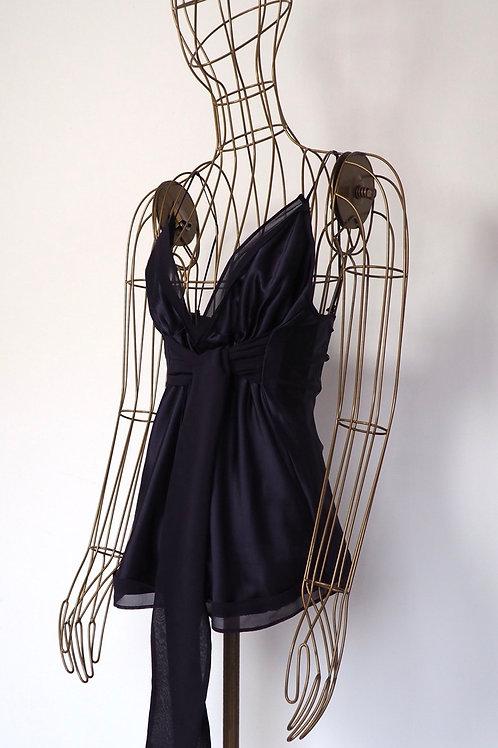 INTREND Aubergine Silk Top