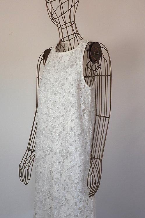 MANGO White Lace Dress