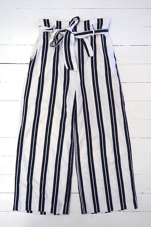 H&M Striped Linen Culotte
