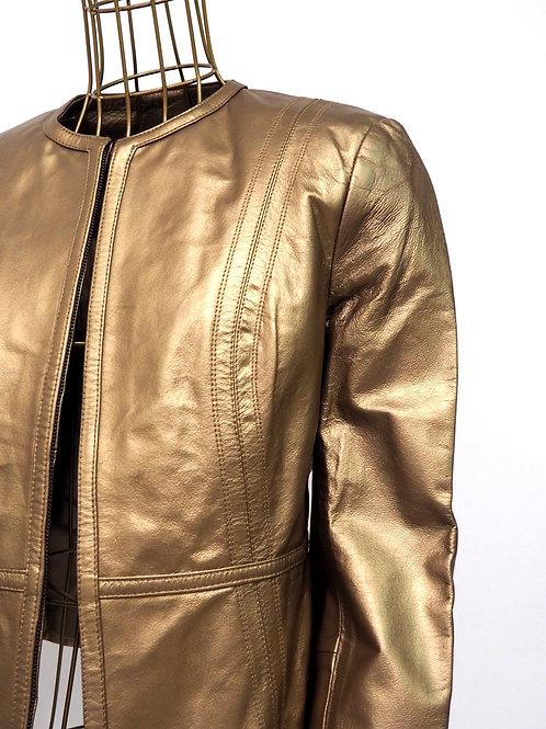 MARKS&SPENCER Golden Leather Jacket