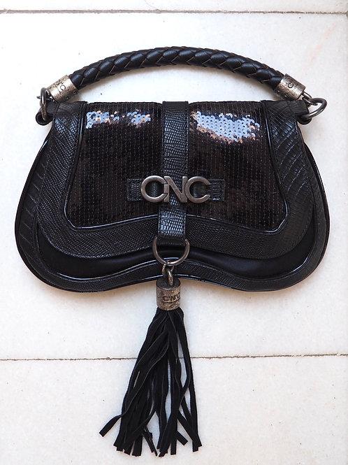 COSTUME NATIONAL Patent/Glitter Handbag