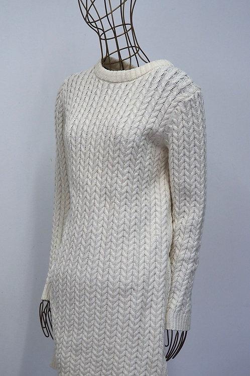 ZARA Off White Knit Dress