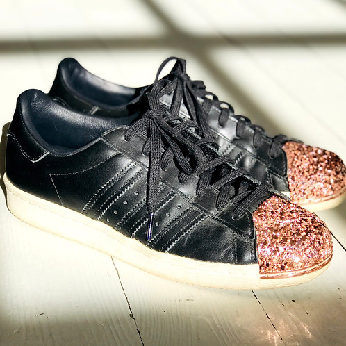 Adidas Superstar with RoseGold Toe