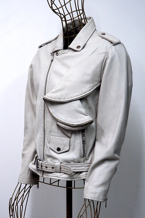 GUESS Frill Leather Jacket