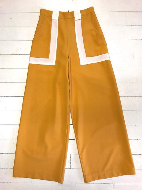 CAKO Sunny Yellow Contrast Pants