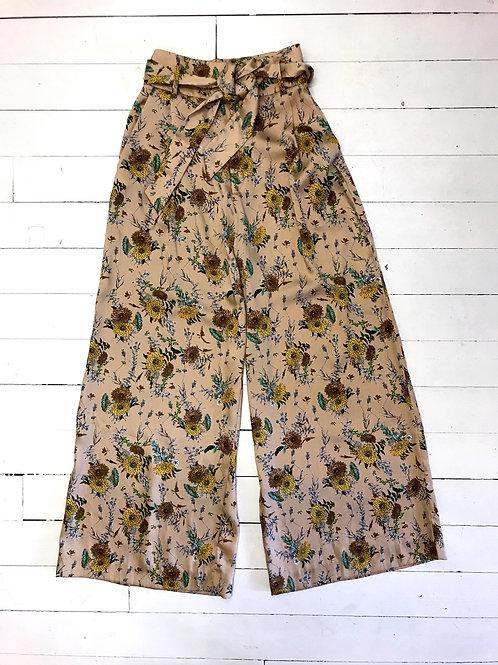 MANGO Satin Flower Culotte
