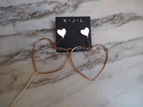 KENNETH Jay Lane Heart Earrings