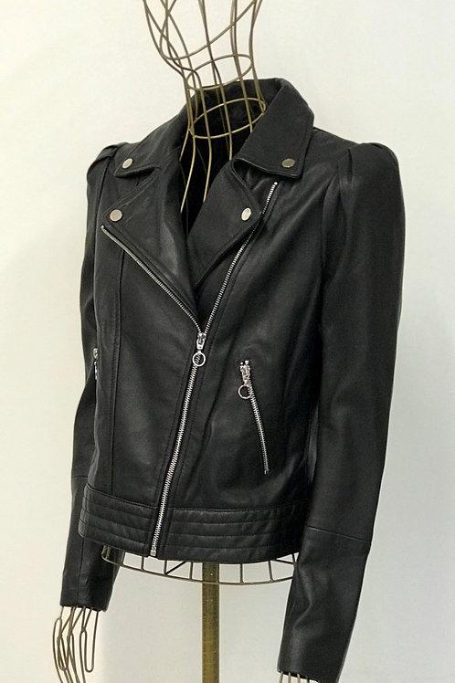 MANGO Puff Sleeved Biker Jacket