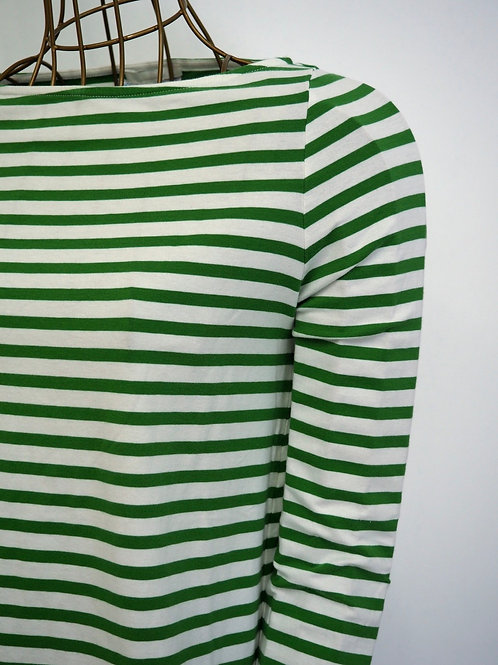 COS Green Striped Top