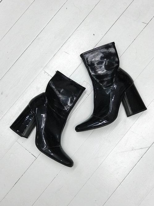 Zara Patent Ankleboots
