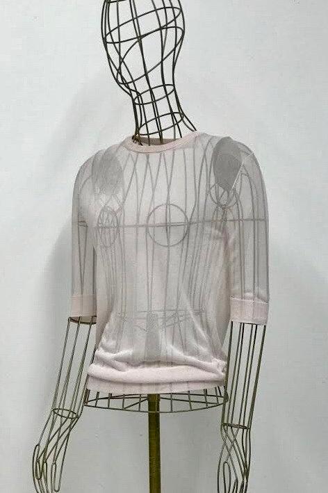 Zara Knit Rose Seetrough Sweater