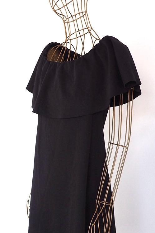 IMPERIAL Black Frill Dress
