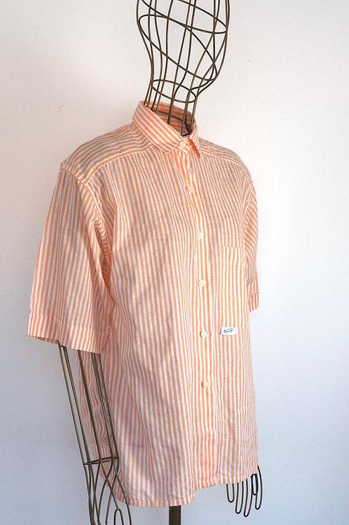VINTAGE Peach Striped Shirt