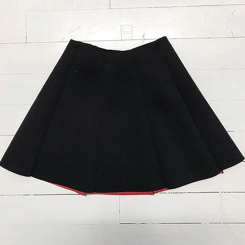 Black A-line Miniskirt