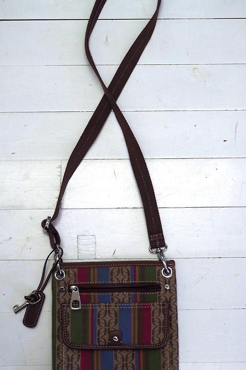FOSSIL Crossbody Leather/Canvas Bag