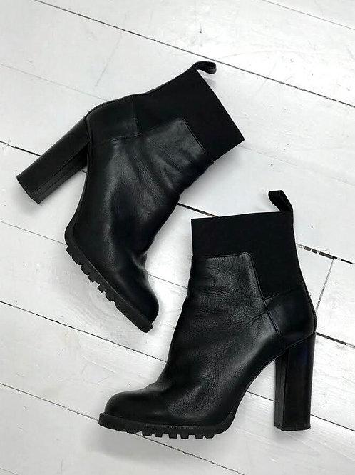 Zara Black Chunky Heel