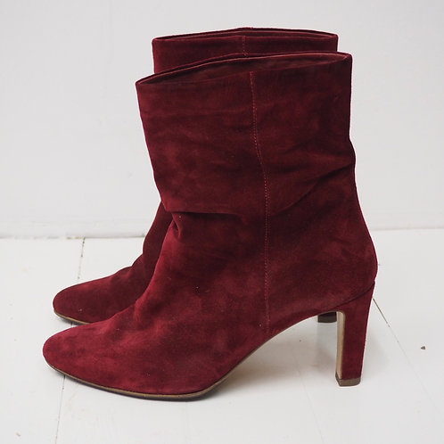 HÖGL Nubuck Leather Burgundy Boots