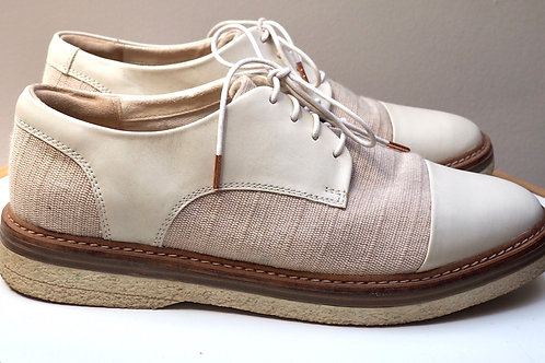 CLARKS Textile/Leather Oxford Shoes