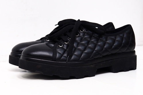 STUDO POLLINI Quilted Oxford Shoes