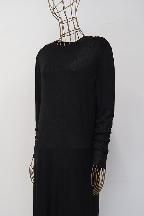 COS Shiny Black Dress